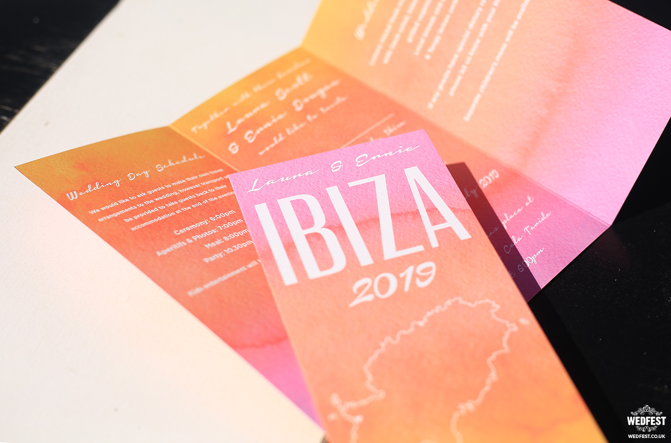 destination travel ibiza wedding invitation