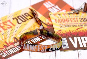 farmfest festival wedding-stationery wristbands armbands bracelets