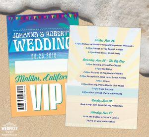 festival beach wedding california vip lanyards