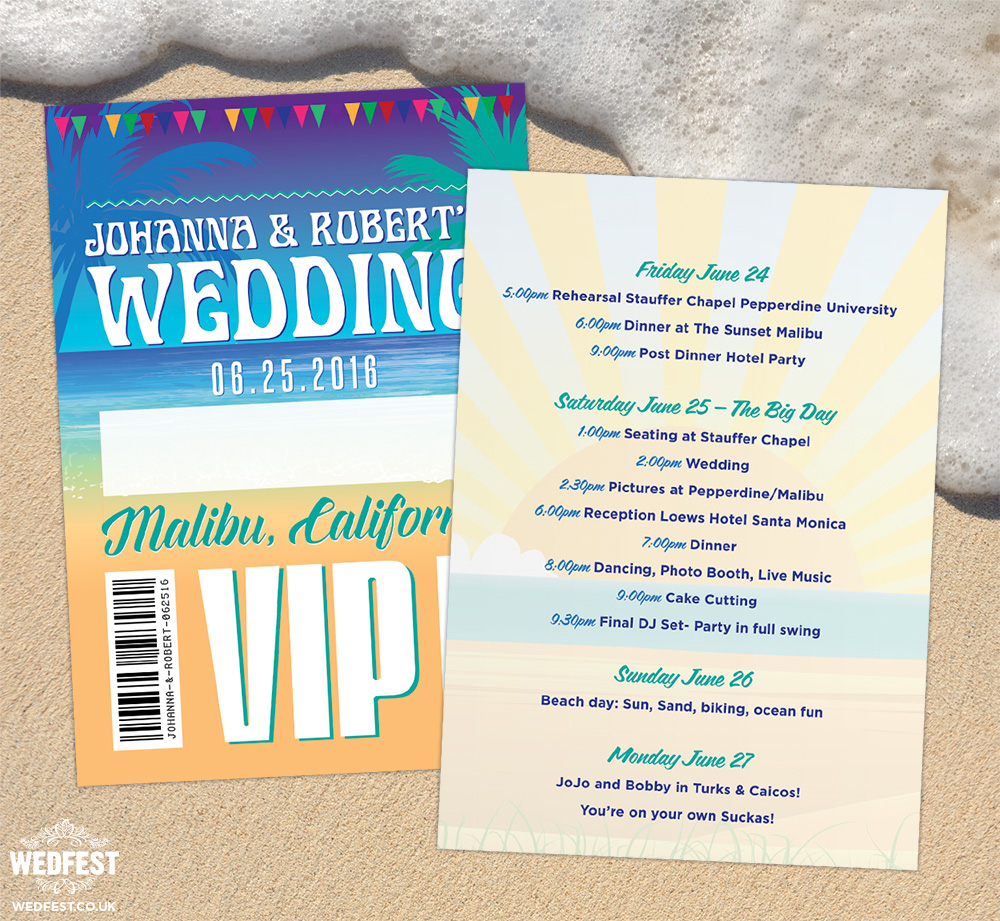festival beach wedding california vip lanyards