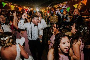 festival wedding dancefloor party