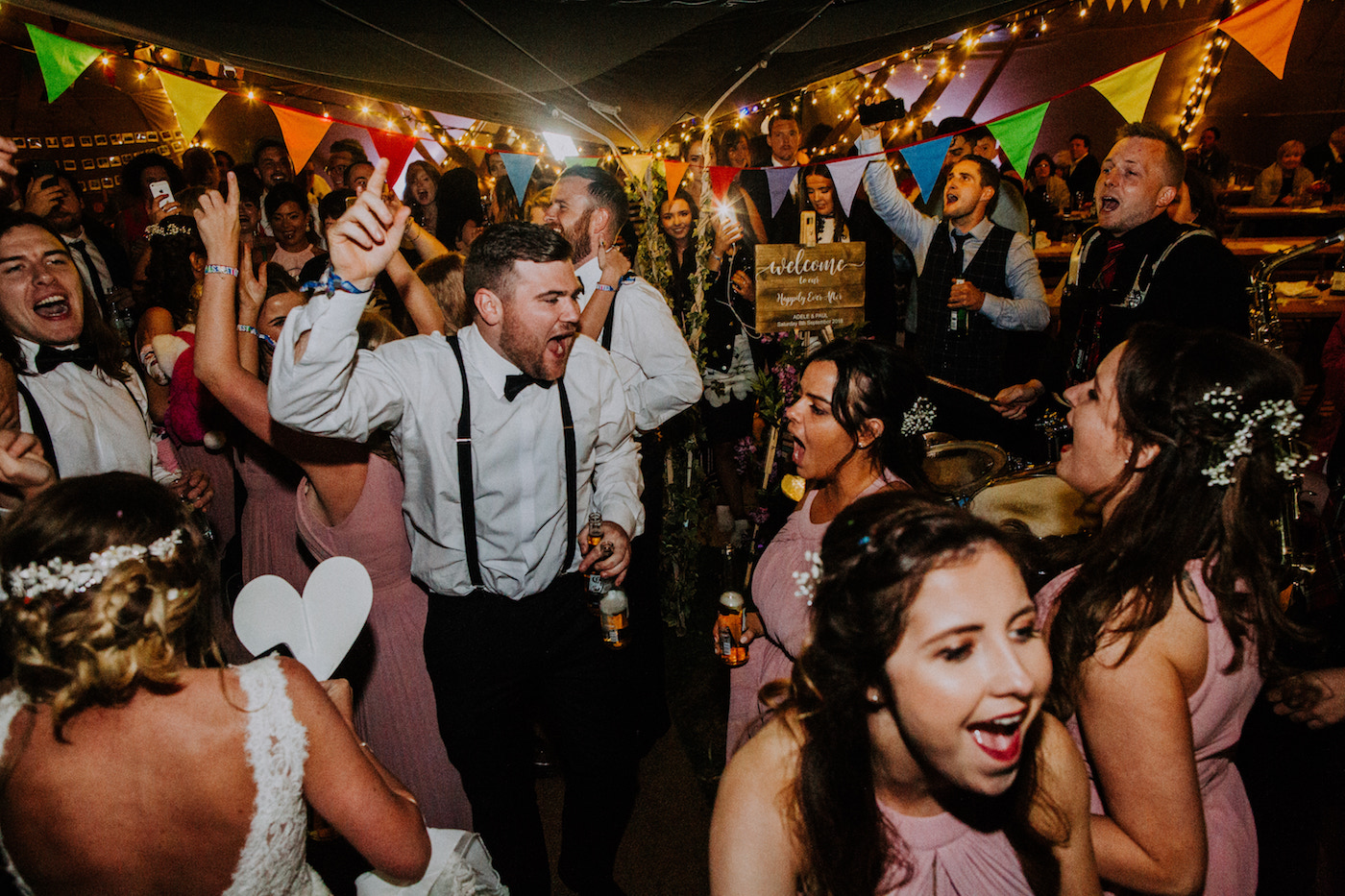 festival wedding dancefloor party