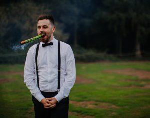 festival wedding groomsman flare