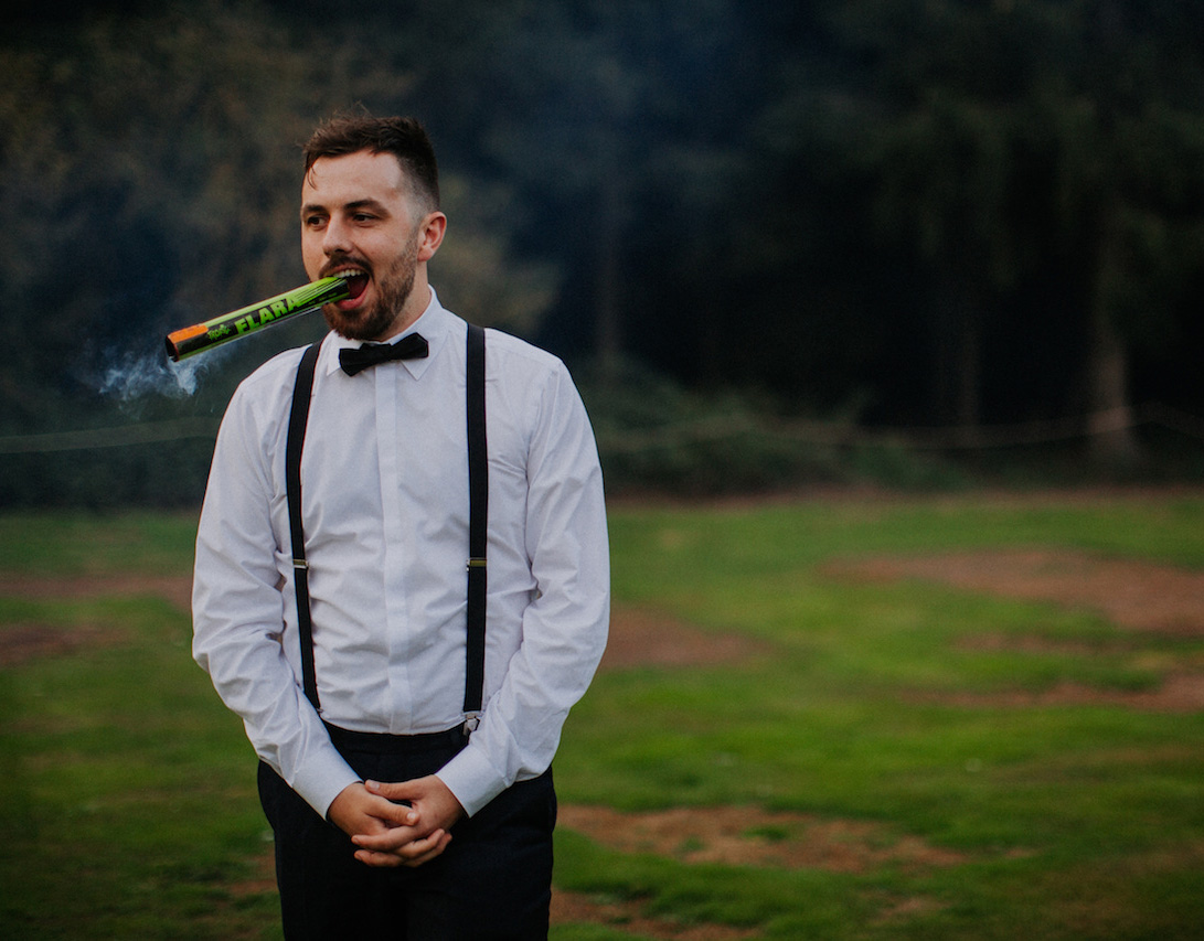 festival wedding groomsman flare