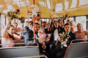 festival wedding party bridesmaids groomsmen