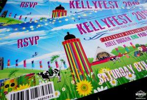 glastonbury festival wedding invitations wedfest