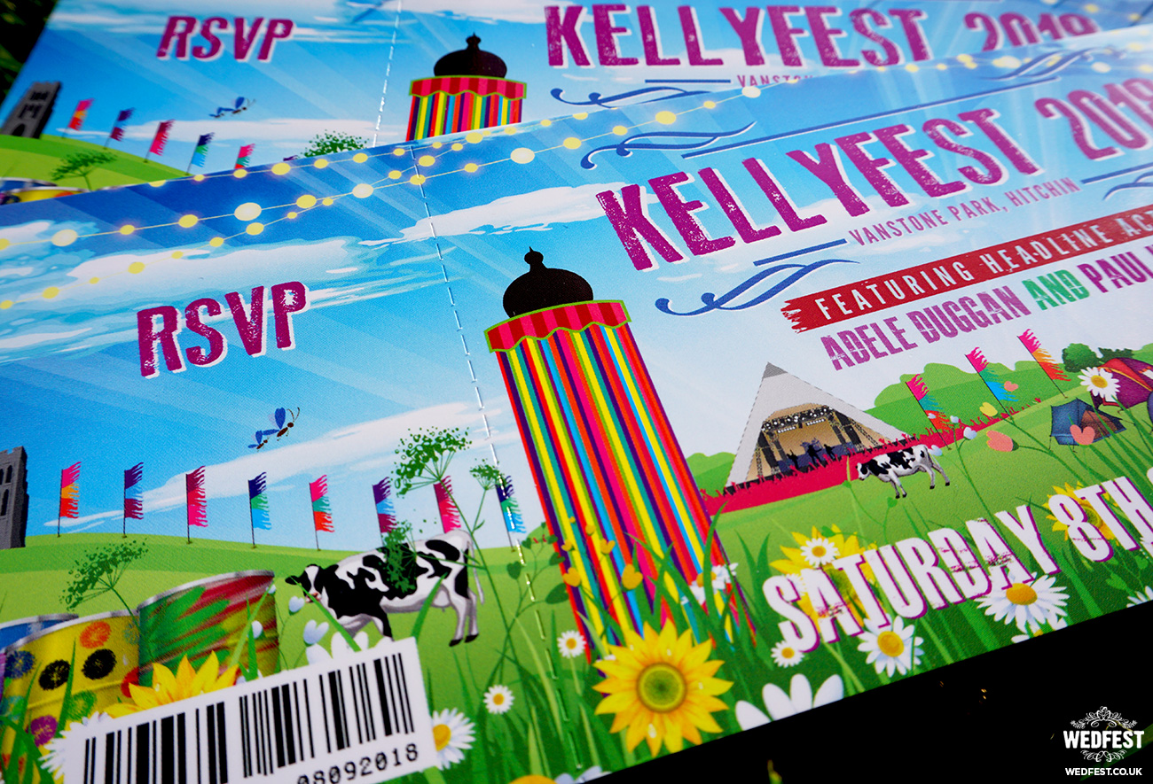 glastonbury festival wedding invitations wedfest