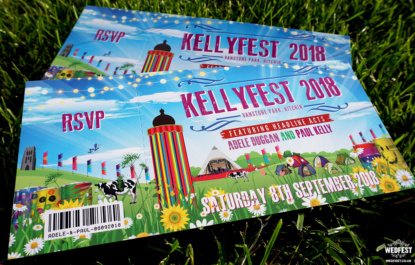 glastonbury themed wedding invitations wedfest