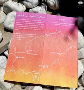 ibiza map wedding invitation stationery