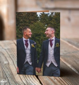 kevin and david same love wedding thank you cards
