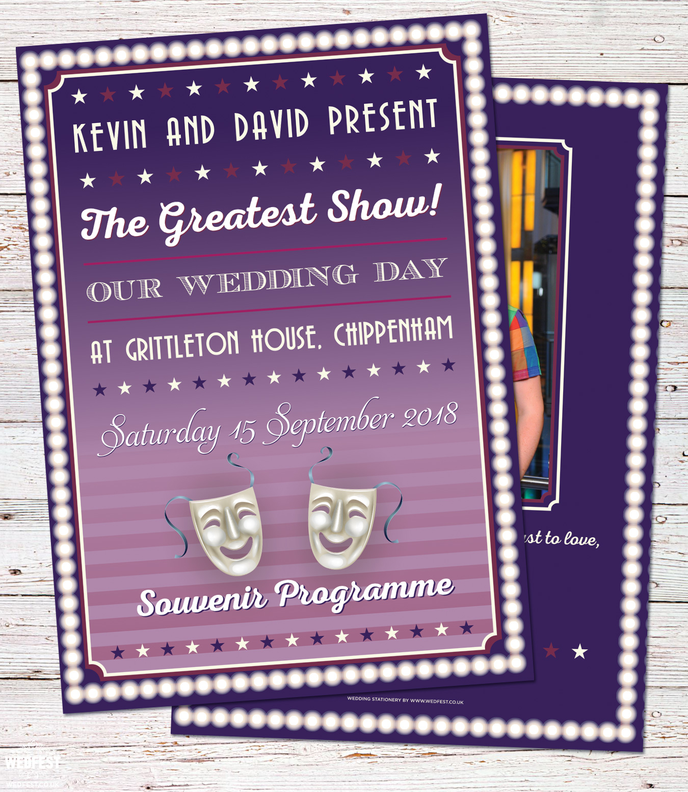 musical theatre wedding program order of service