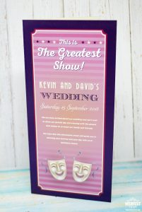 musical theatre wedding programme order of service