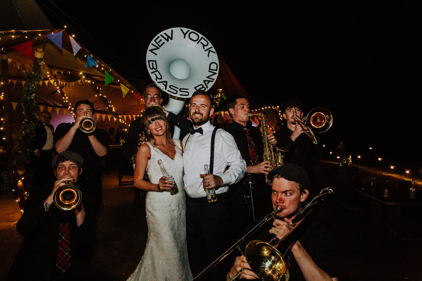 new york brass band wedfest festival wedding