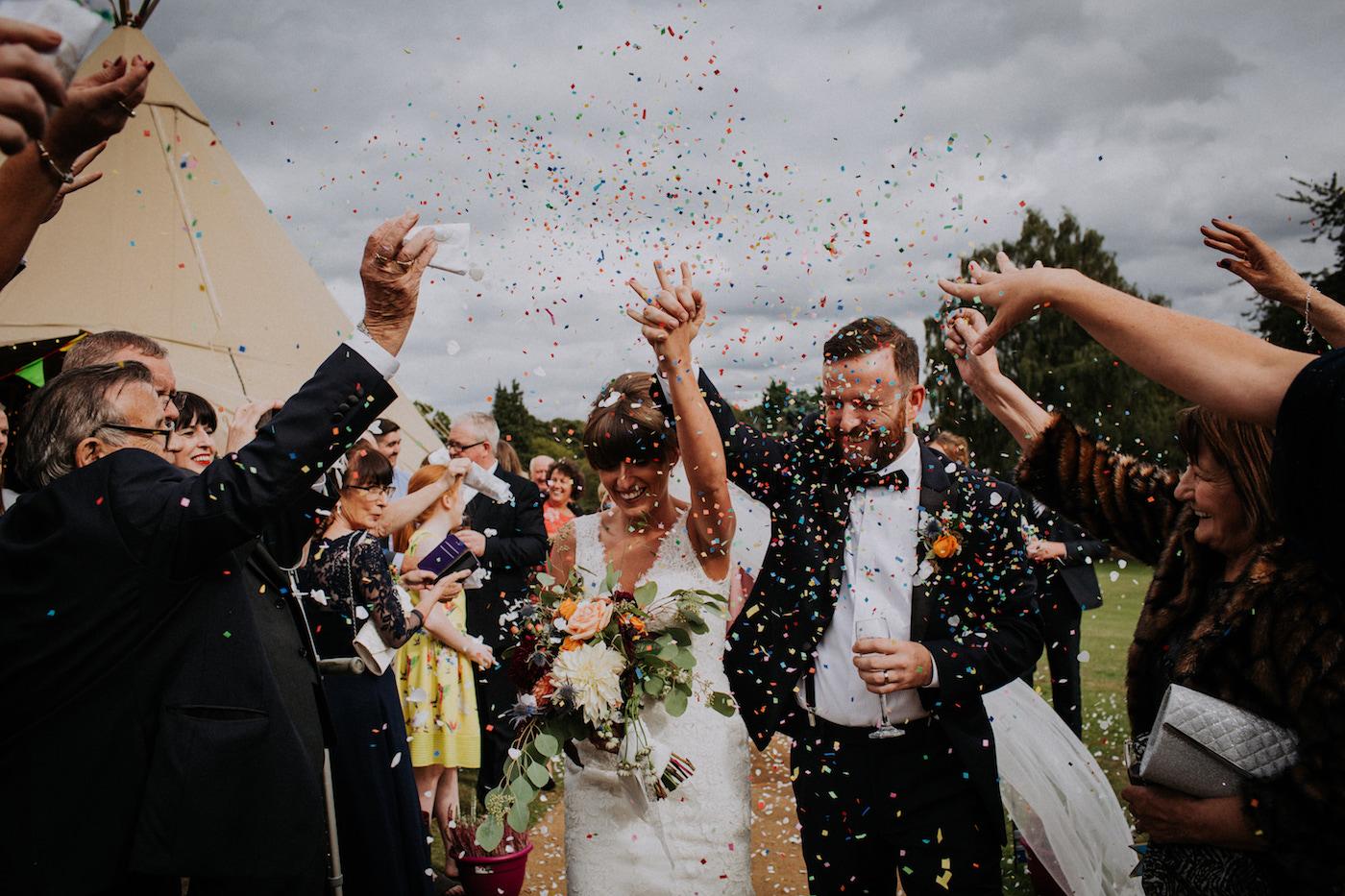 Paul & Adele Glastonbury Inspired Festival Wedding