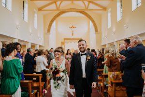 paul and adele glastonbury festival theme wedding