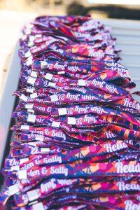 personalised fabric festival wedding wristbands