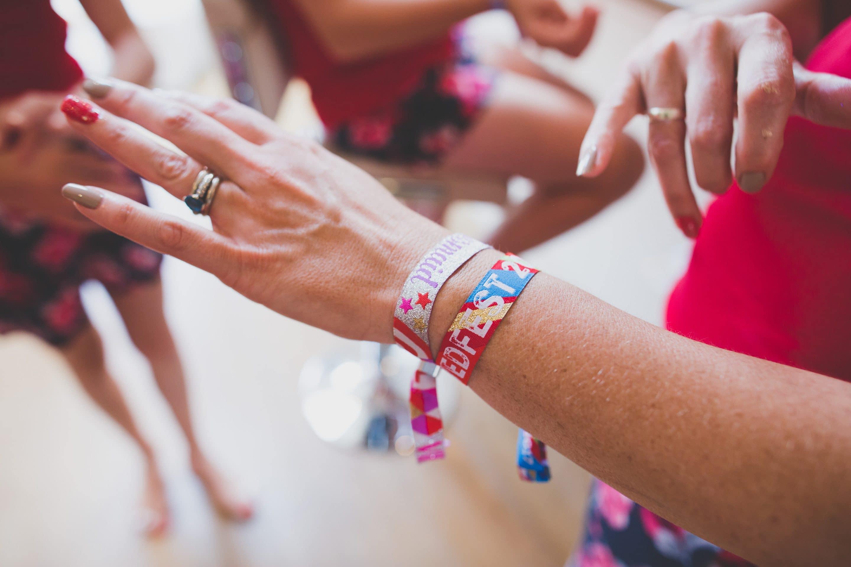 personalised festival wedding wristband wedding favours