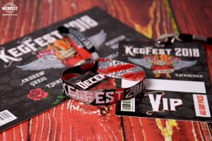 rock n roll wedding stationery suite wristband