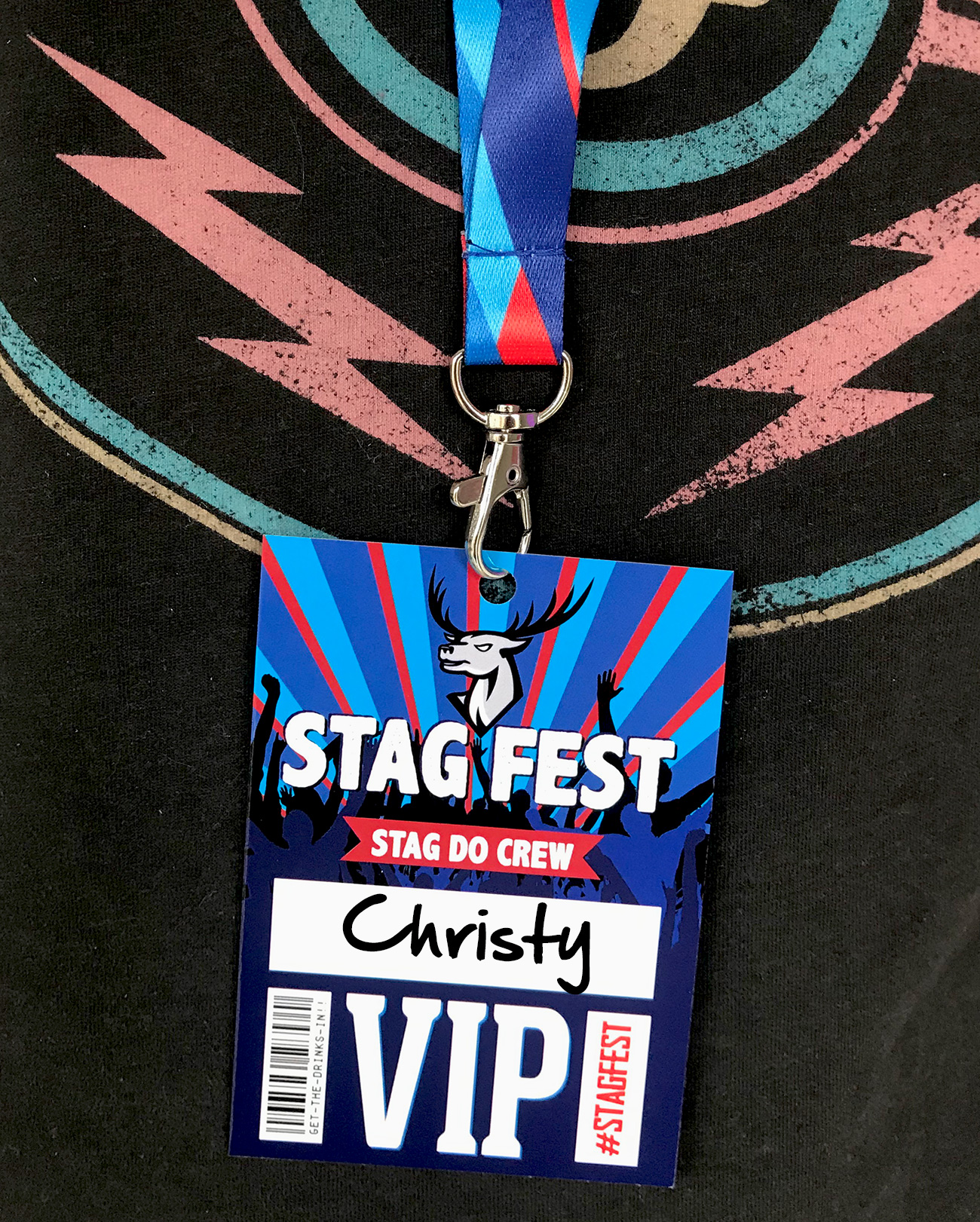 stagfest festival stag do party vip lanyards