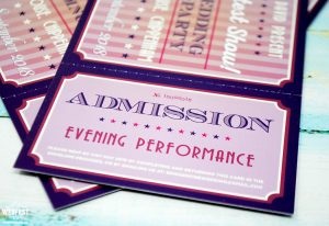theatre ticket stub wedding invites