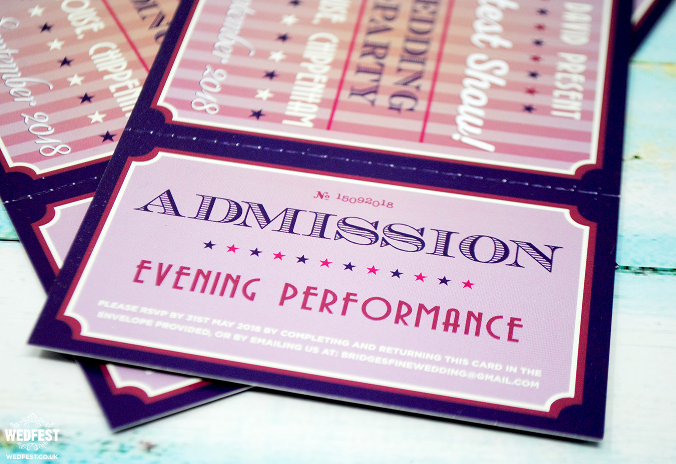 theatre ticket stub wedding invites