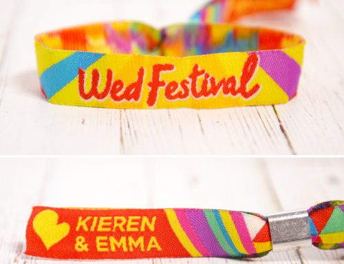 Personalised Festival Wedding Wristbands Favours