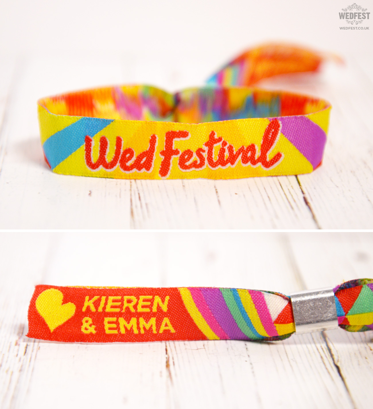 wed festival wedfest wedding wristbands