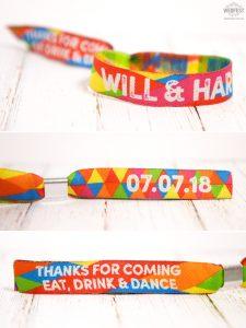 wedfest custom festival wedding wristband favours
