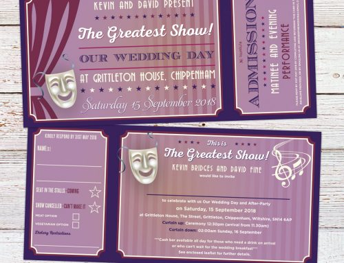 Kevin & David's Musical Theatre Themed Wedding Stationery