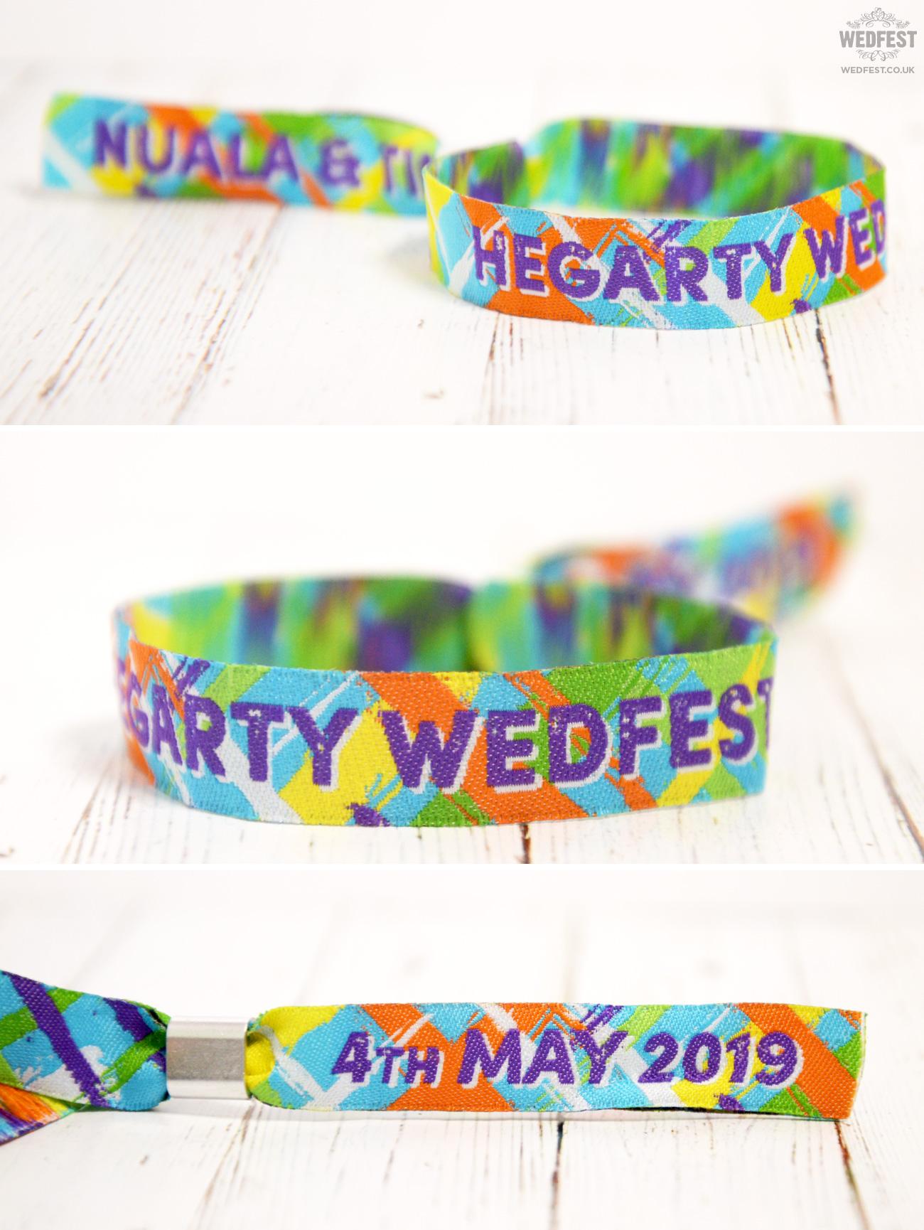 wedfest personalised festival wedding wristband armbands bracelets favours