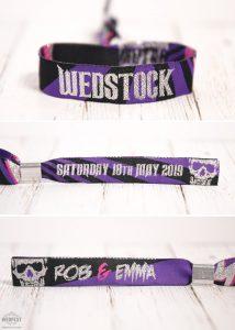 wedstock rock n roll wedding wristbands