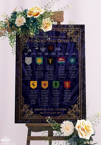 game of thrones wedding seating table chart