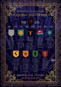 game of thrones wedding seating table plan chart