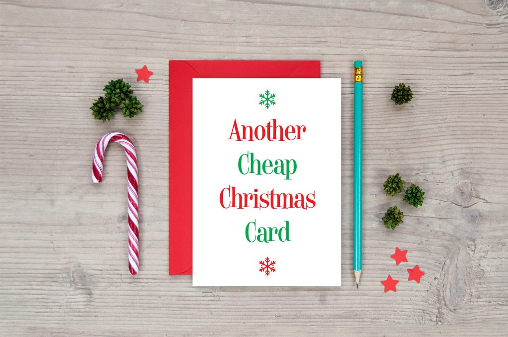 another cheap christmas card