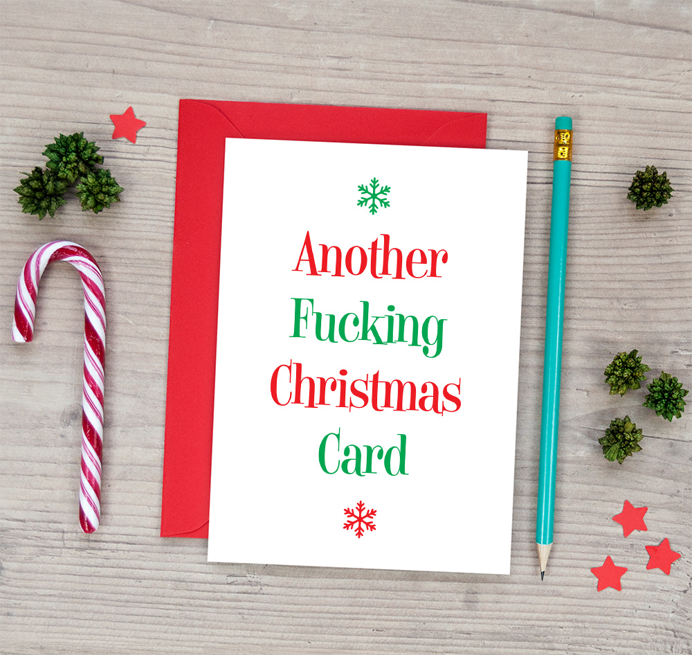 another fucking christmas card funny rude xmas card