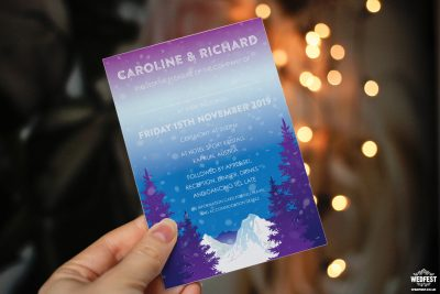 apres ski wedding invites