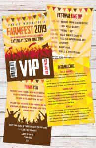 farm fest festival farm wedding stationery