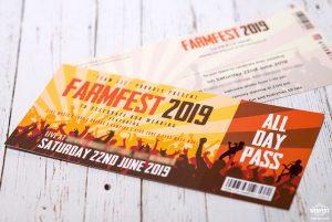 farmfest farm barn festival wedding invitation