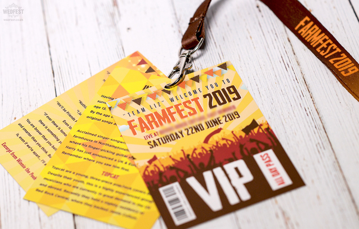 farmfest festival wedding lanyards