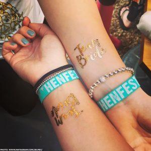 festival henfest hen party favours wristbands
