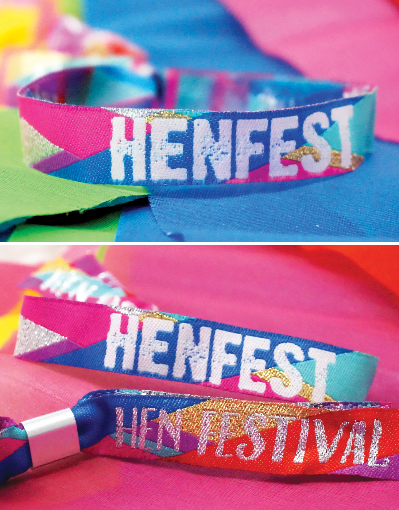 hen fest festival hen do party wristbands favours