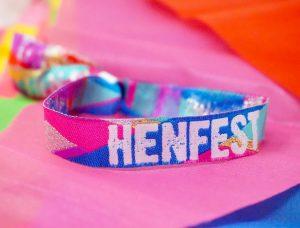 hen fest festival hen party wristbands multi coloured