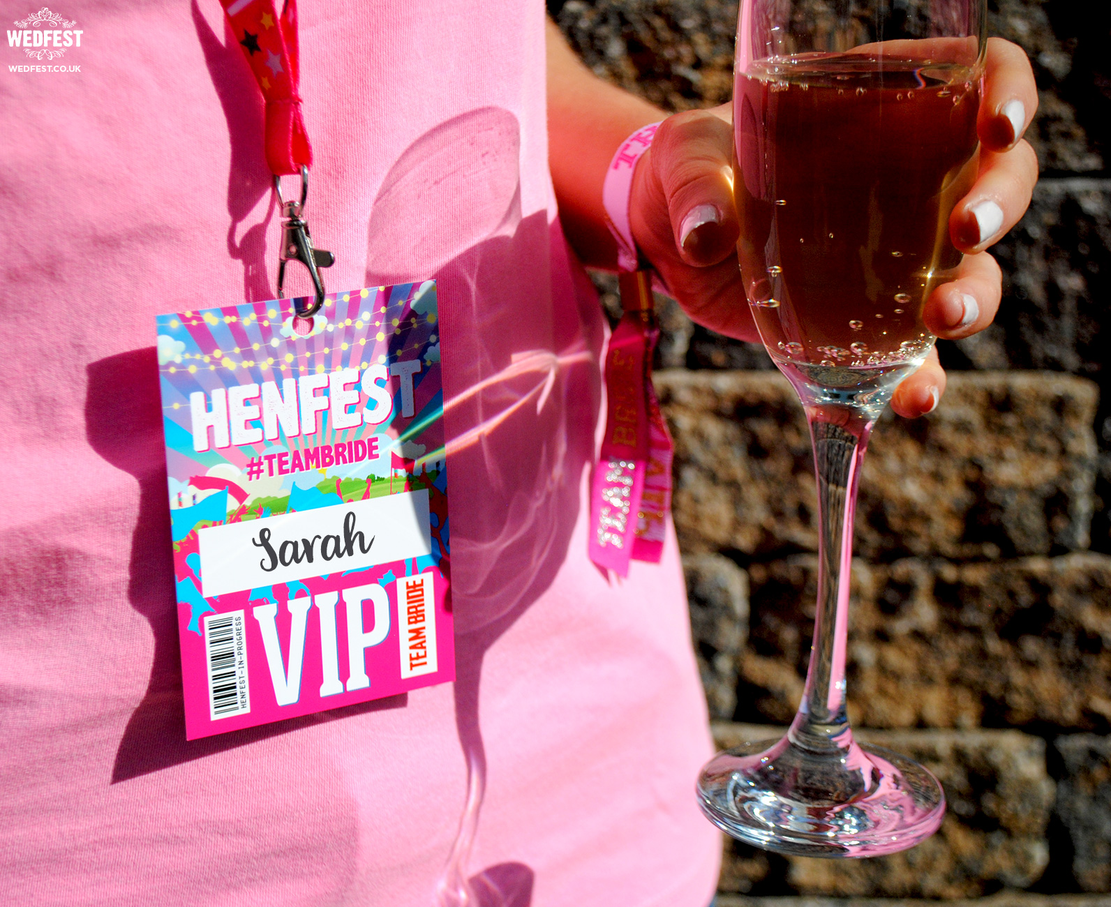 hen fest hen night vip pass lanyards