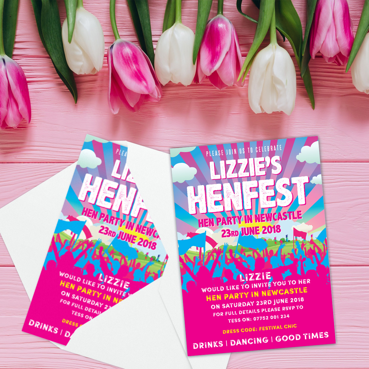 hen fest hen party invites