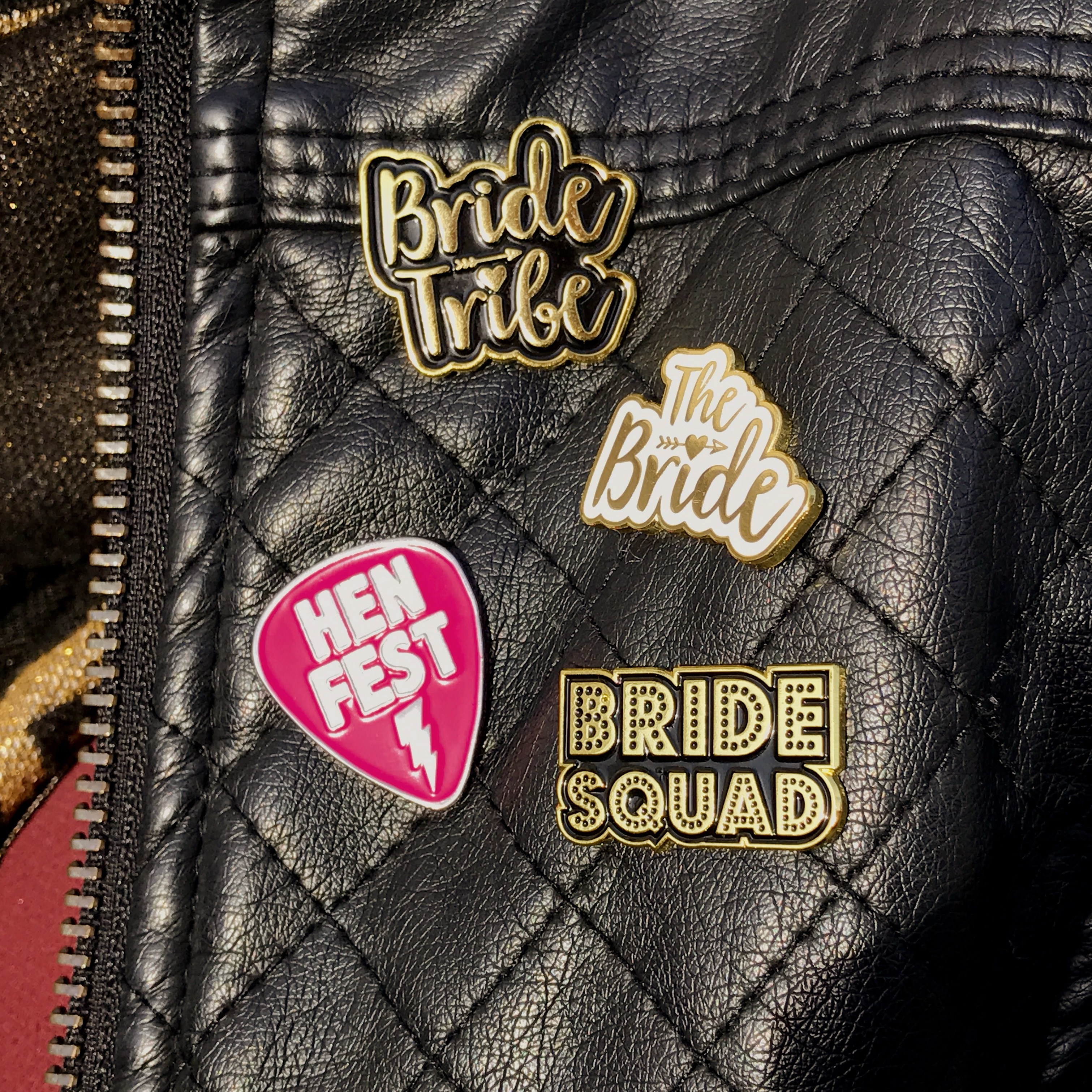 hen party enamel pin bagdes