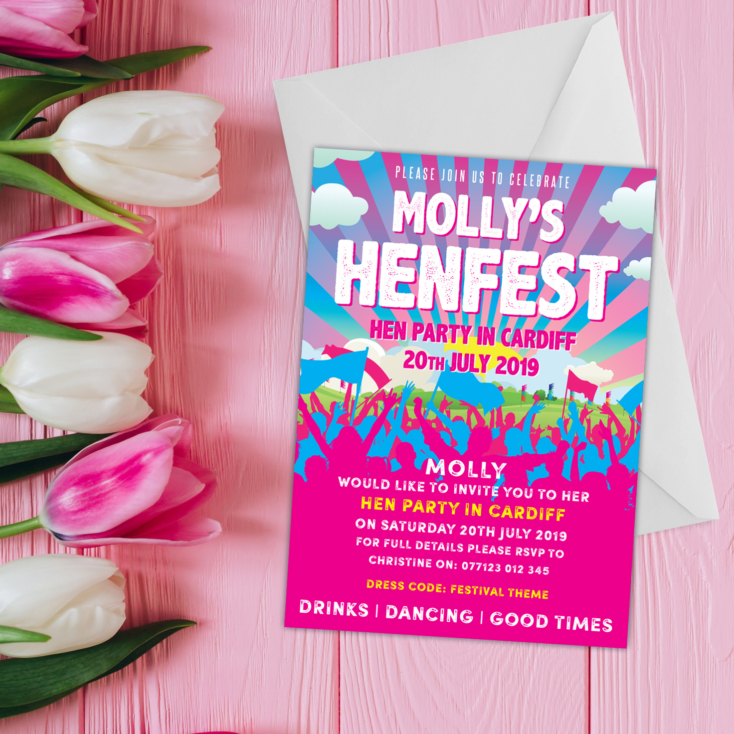 henfest festival hen party invitation