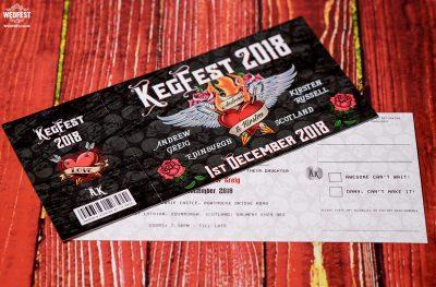 rockers tattoo heart skulls rock n roll wedding invitations