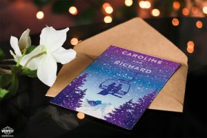 ski resort wedding invites