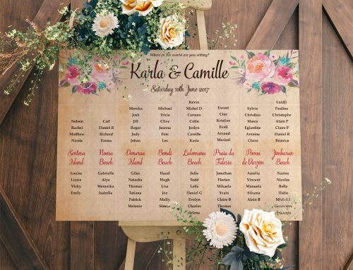 Themed Wedding Table & Seating Plans