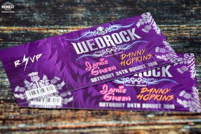 wedrock rockers rock n roll wedding invitation